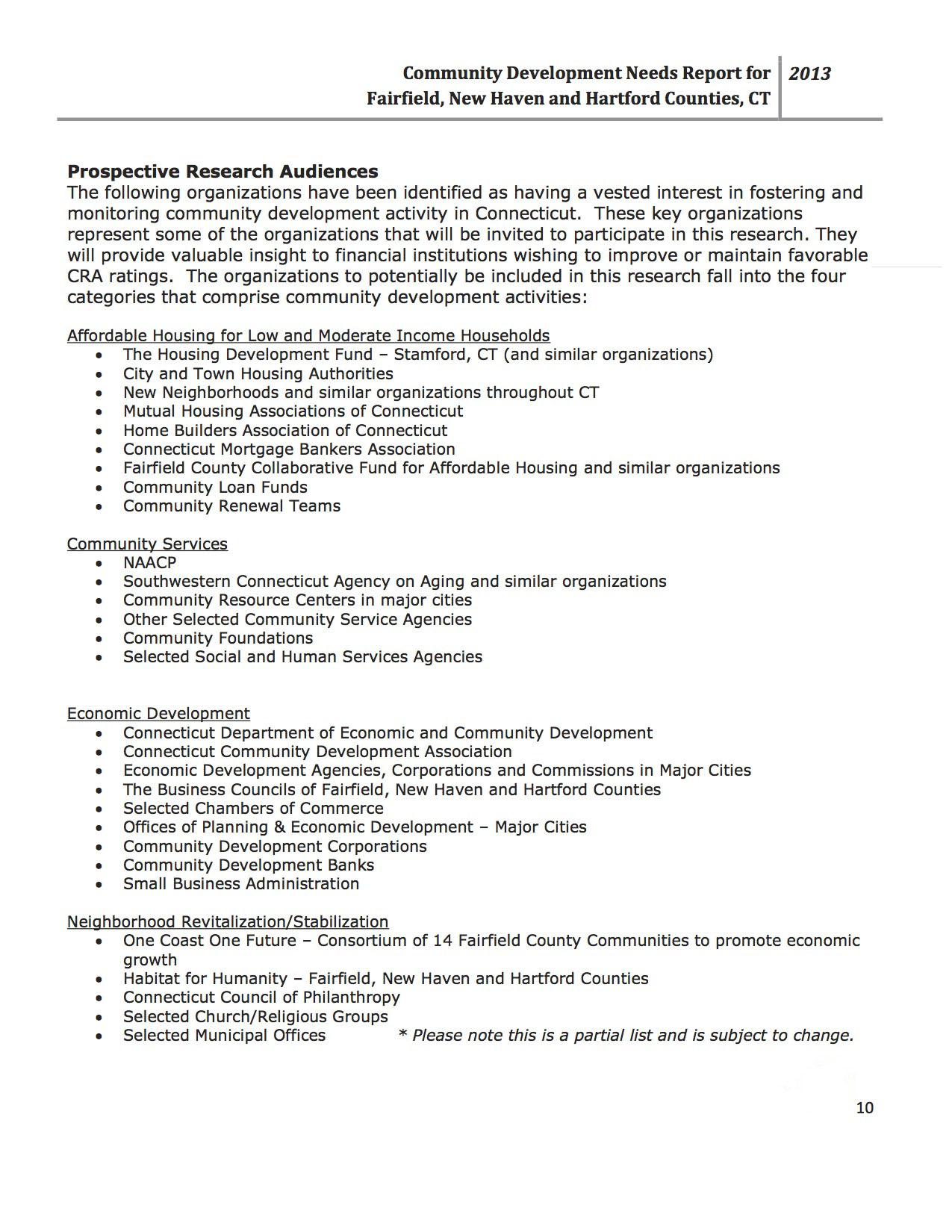 Community Needs Assessment Reports   GeoDataVision