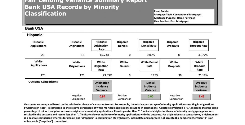 Fair Lending Analysis Report